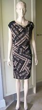 COUNTRY ROAD Chic Gathered Stretch Dress Silk Size-8 Evening, Career