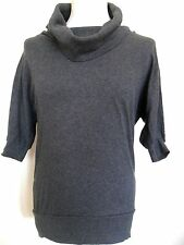 FOREVER 21 womens girls cowl neck 3/4 sleeve jumper dress grey size small petite