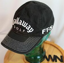 "CALLAWAY GOLF, BLACK W/WHITE LETTERS & STITCHING ""FT-5,HX TOUR"" HAT, GUC"