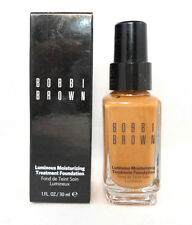 Bobbi Brown Luminous Moisturizing Foundation - Warm Walnut 7.5 - 1 oz BNIB