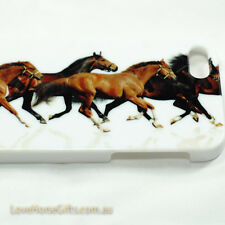 iPhone 5 Cover Case Apple Plastic HardBack Horse Pony Brown White Free Shipping
