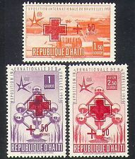 Haiti 1958 EXPO/Exhibition/Buildings/Architecture/Atomium/Red Cross 3v (n37338)