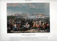 Stampa antica RIVOLUZIONE FRANCESE 1792 FINE ASSEDIO di LILLE 1890 Old print