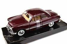 FORD COUPE 1949 '49 MOTORMAX 73213 1:24 NEW DIECAST DARK METALLIC RED