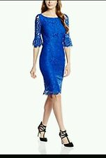 COAST * KATRINA * COBALT BLUE LACE DRESS SIZE 8 NEW WITH TAGS
