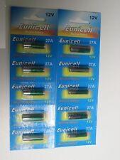10 Batterie Alcalino 12V A27 27A Super Potere Mn27 Gp27a L828 El812
