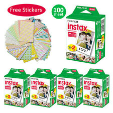 Fujifilm Instax Mini Film 100 Pcs For Fuji 90 8 25 7S 50s SP-1 Instant Camera
