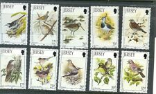 Jersey-Summer and Winter Birds set of 10 mnh