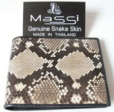 Mens Wallet Natural Bifold Trifold Genuine REAL SNAKE Skin Leather New