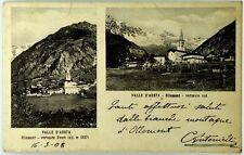 Cartolina Formato Piccolo-Ollomont (Valle D'Aosta) Versati Ovest E Sud Viaggiata