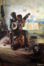 Handmade Oil Painting repro Henry Ossawa Tanner The Banjo Lesson