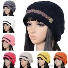 Womens Braided Winter Warm Baggy Beanie Knit Slouch Crochet Ski Hat Cap Oversize
