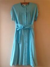 Vintage 1970s/80s Nina Ricci Paris France French Turquoise Designer Dress 12 14