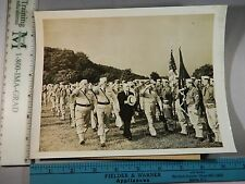 Rare Hist Original VTG 1942 Gov Herbert H Lehman Camp Smith NY State Guard Photo