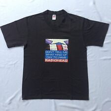 VINTAGE RADIOHEAD BAND T SHIRT COPYRIGHT W.A.S.T.E 96 COTTON POLYESTER XL
