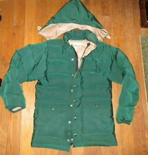 Vtg Recreational Equipment Down Coat Goose Feather Jacket 1970s REI Hooded Coat