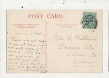 Miss E Matthews Dracena Lodge Collings Road Guernsey 1903  777a