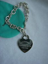 "TIFFANY & CO. ""RETURN TO TIFFANY"" HUGE HEART TAG BRACELET!"