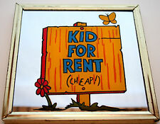 1970s Kid For Rent (Cheap!) Campy Mini Dime Store Carnival Prize Mirror New NOS