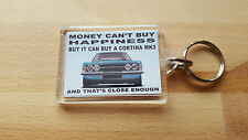 Ford Cortina Mk3 GT GXL Art illustration Key Ring **BLUE**