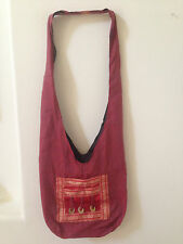 Monk Buddha Cotton Hippie Hobo Crossbody Sling Shoulder Bag Purse Unisex Travel