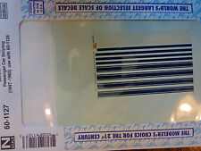 Microscale Decal N  #60-1127 C of G SL Pass Car Stripes (use with set #87