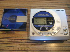 Sharp  MD MT 15 Minidisc Recorder Player + Sony Walkman MD 80 Min. (887)