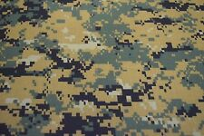 "MARPAT WOODLANDS USMC LOGO NY/CO TWILL CAMOUFLAGE FABRIC MILITARY 65""W CAMO"