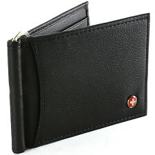 RFID Blocking Mens Wallet Money Clip Front Pocket Wallet Spring Clip AlpineSwiss