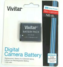 Vivitar Canon B6 Digital Camera Battery NB8L NB-8L VIV-CB-8L Powershot NEW