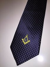 Masonic Tie Woven Navy Blue Freemasons Square and compass Master Suit Necktie