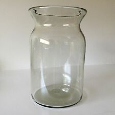 "Pottery Barn 12"" Tall Clear Glass Hand Blown Decorative Vase Glass Container"