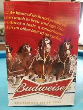 2013  Anheuser Busch  AB  Budweiser Holiday Christmas Beer Stein Clydesdales NIB