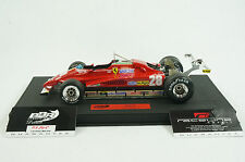 1/18 BBR FERRARI 126C2 GP LONG BEACH D.PIRONI CAR28 BLACK DELUXE LEATHER LE 5 MR