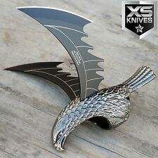 FANTASY HAWK Silver Ring FLYING EAGLE Blade Handcrafted Metal Body