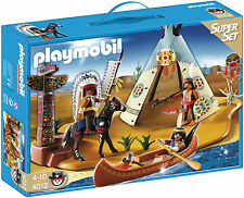 BNIB Playmobil 4012 WESTERN Native American Camp SuperSet - LAST ONE!