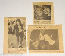 The BEATLES GEORGE HARRISON 1966 Wedding 3pc Newspaper Clipping Article Lot