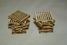 O scale laser cut pallet kit, makes 12 wood pallets Crescent locomotive Works