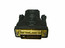 DVI-D Male (24+1 pin) to HDMI Female (19-pin) Adapter Gold Plated
