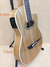 MR Thin Body Nylon Strings Classical Guitar, Natural w/EQ,Truss Rod+Free Gig Bag