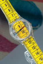 NEW Swatch 1997 School Ruler Pop Art Quartz Watch In Case w New Battery Working