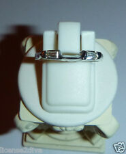 14K WHITE GOLD DIAMOND TAPERED BAGUETTE RING/GUARD! SIZE 6.75! VINTAGE!