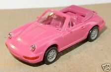 MICRO WIKING HO 1/87 PORSCHE 911 CARRERA 4 CABRIOLET ROSE roues rose NO BOX bis