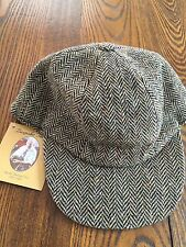 Touring Cap Irish Tweed Grey Herringbone Hanna Hats Ireland- Size: Medium- NWT