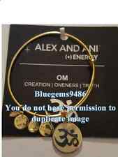 Alex and Ani Ivory Epoxy Om Charm Bangle Yellow Gold - Discontinued/Rare
