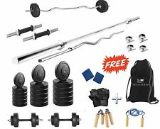 Protoner  30 Kgs + 4 Rods Weight Lifting Home Gym Fitness Package