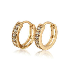 18 k Gold Plated Jewellery Small Girls Hoops  with Zircons Earrings E524