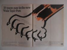 1977 Print Ad Uniroyal Tiger Paw Tires ~ 31% More Paw