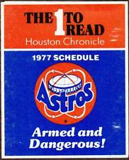 1977 HOUSTON ASTROS HOUSTON CHRONICLE BASEBALL POCKET SCHEDULE