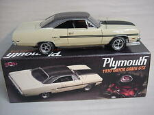 GTX SAND PEBBLE BEIGE GATOR GRAIN 440 V-8 SUPER COMMANDO 1970 PLYMOUTH GMP 1-18